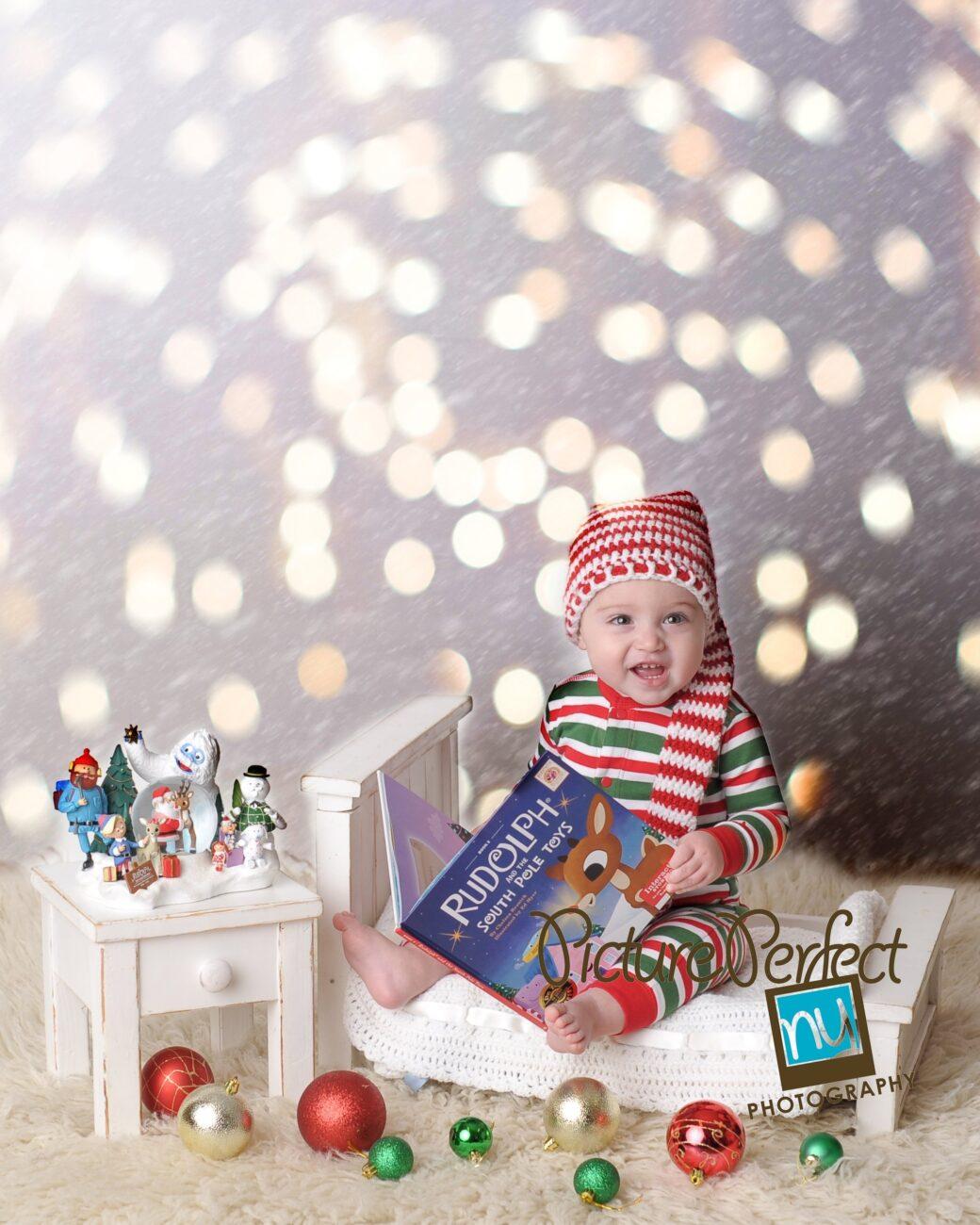 Brooklyn NY Christmas Baby Photography