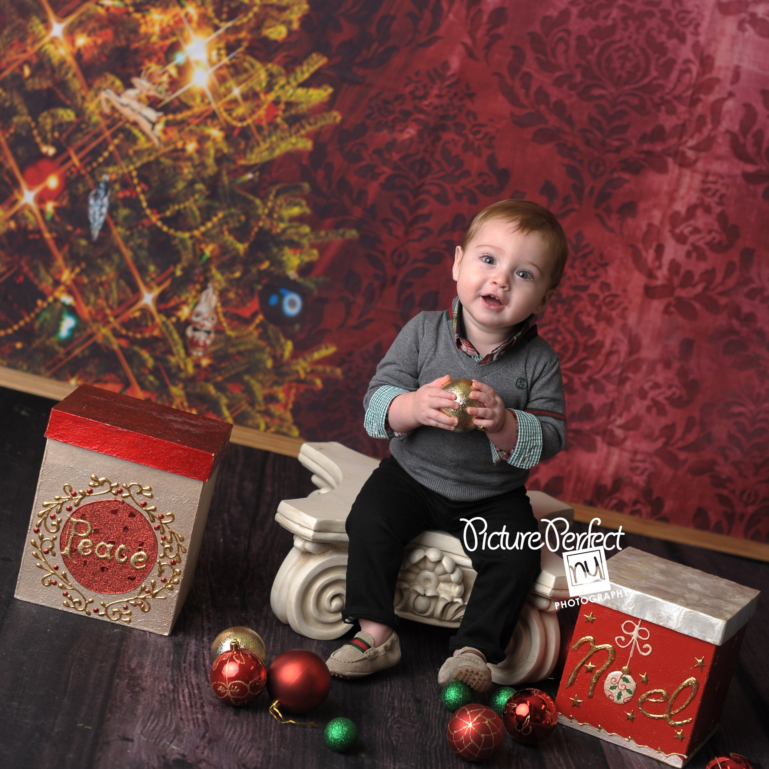 Brooklyn NY Christmas Baby Photography
