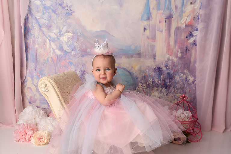 nyc first birthday royal princess portraits