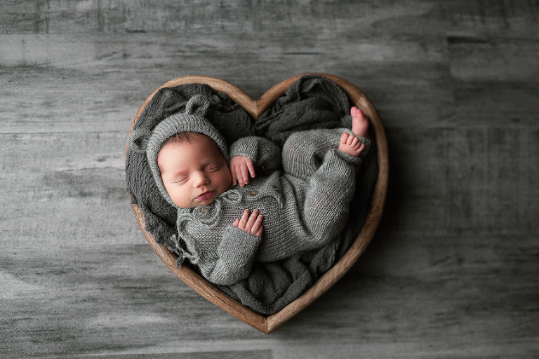 nyc newborn photography her baby in the heart