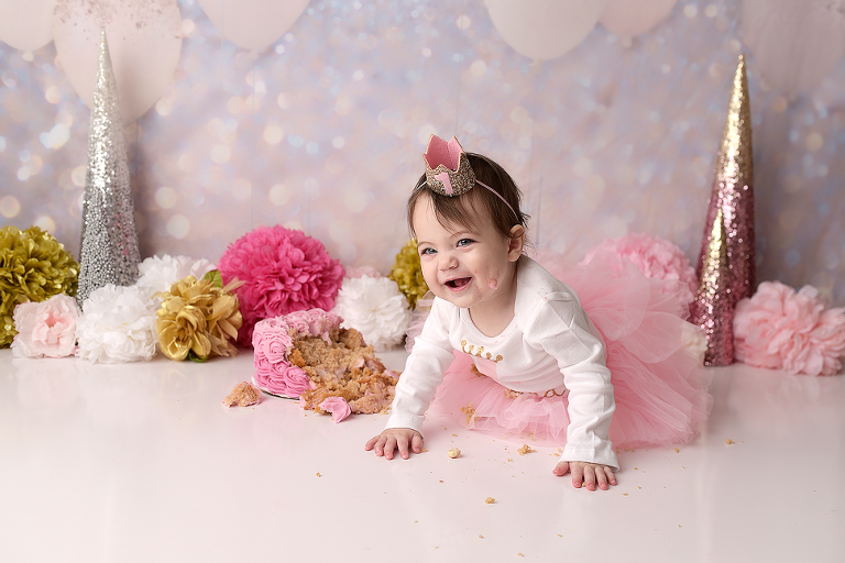 cake smash princess nyc photographer picture perfect ny