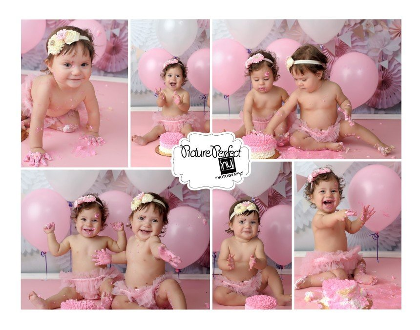 Twin Girls Cake Smash Photography Manhattan NY