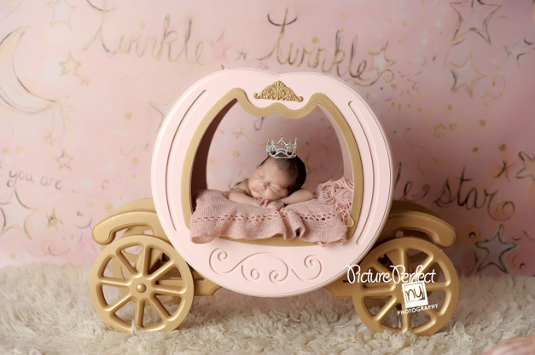 baby in princess carriage