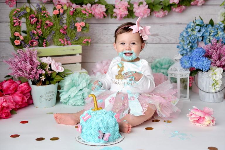cake smash floral