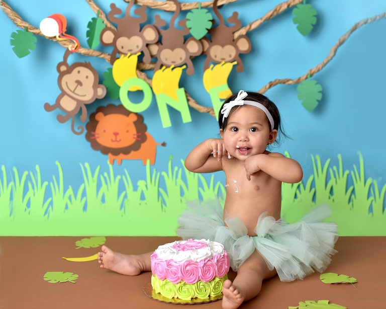 jungle cake smash
