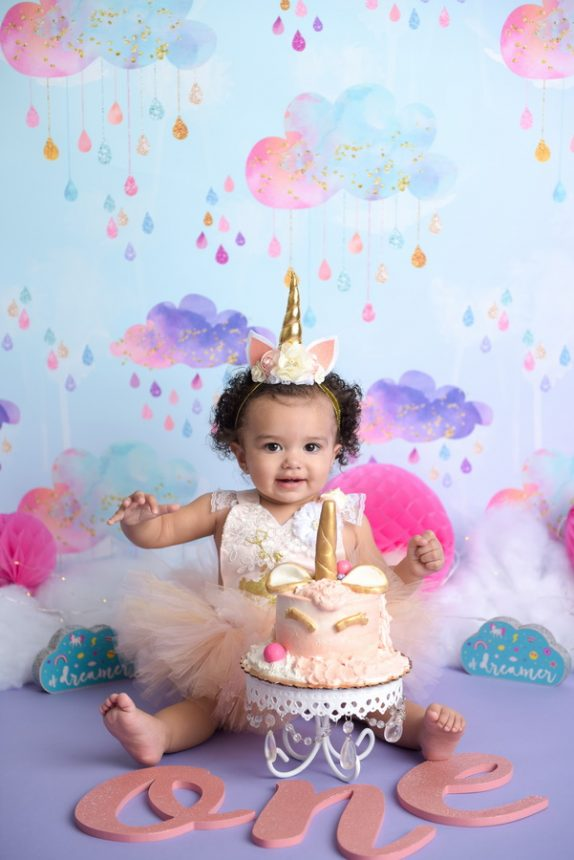 Emma's Unicorn Cake Smash | NYC First Birthday Photographer