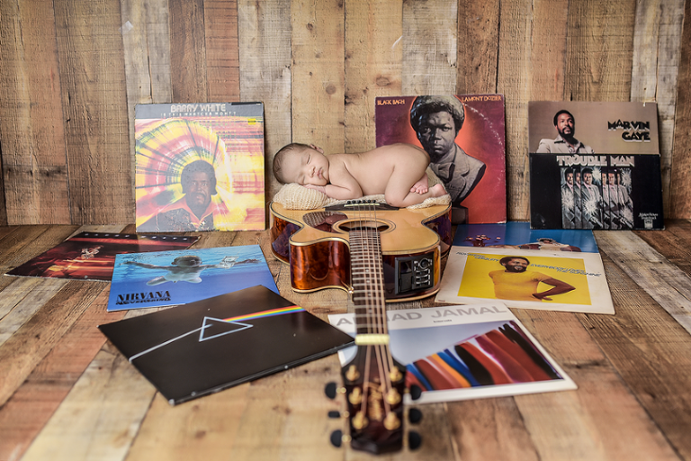 nyc newborn photographer guitarrock classic music