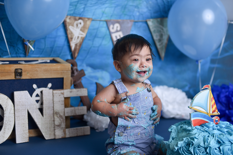 nyc photographer | special needs portrait session | first birthday cake smash