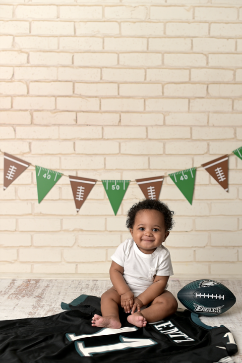 football eagles fan baby photographer