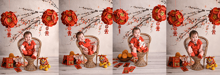chinese new year baby photography session in Brooklyn, NYC