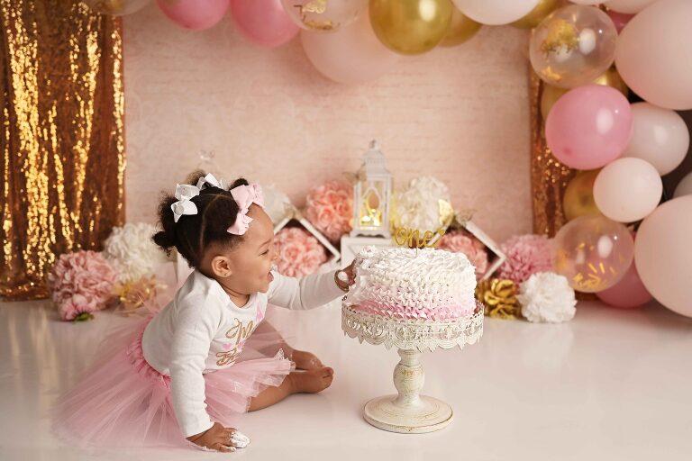 pink & gold girl's first birthday